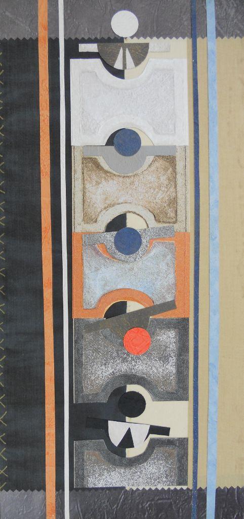 Der Kredit, Papiercollage, 2009, 21x48