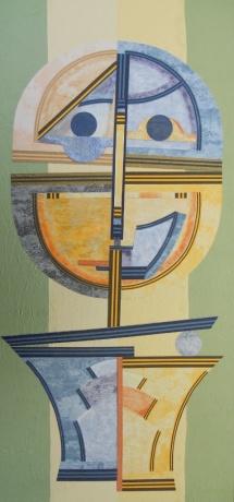 Der Richter, Papiercollage, 2009, 21x48
