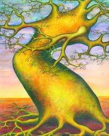 Die Seelen der Bäume - VIII, Acryl, 2003, 30x40