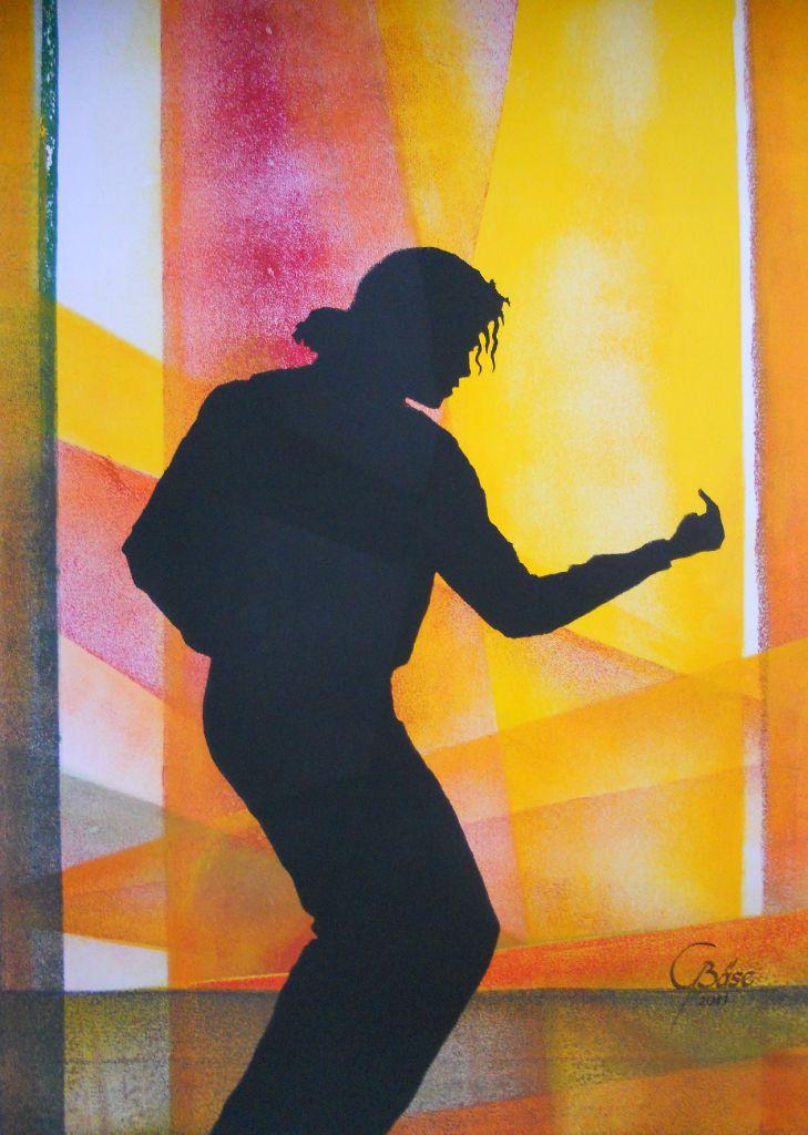 Michael Jackson - XIV, Schablonendruck, 2011, 49,5x65