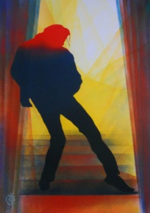 Michael Jackson - XV, Schablonendruck, 2011, 50x70