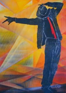 Michael Jackson - XVI, Schablonendruck, 2011, 49x70