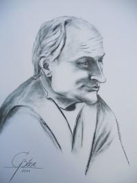 Bernhardt Naumann, Kohlezeichnung, 2011, 50x70