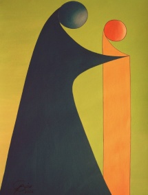 Das Leben - XVII, Acryl, 2009, 30x40