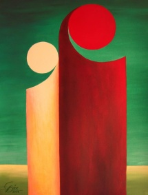 Das Leben - XVI, Acryl, 2009, 30x40