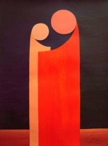 Das Leben - XV, Acryl, 2009, 30x40