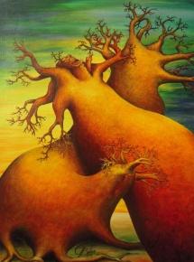 Die Seelen der Bäume - XII, Acryl, 2008, 30x40