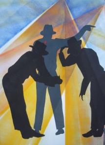 Michael Jackson - I, Schablonendruck, 2011, 50x70