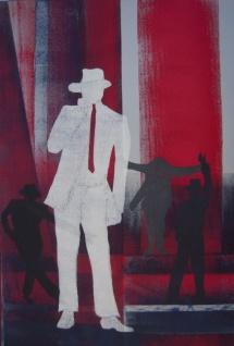 Michael Jackson - III, Schablonendruck, 2010, 50x75