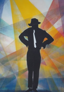 Michael Jackson - VII, Schablonendruck, 2010, 48x73