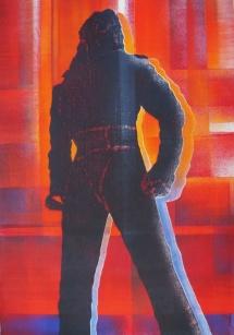 Michael Jackson - XI, Schablonendruck, 2011, 50x75