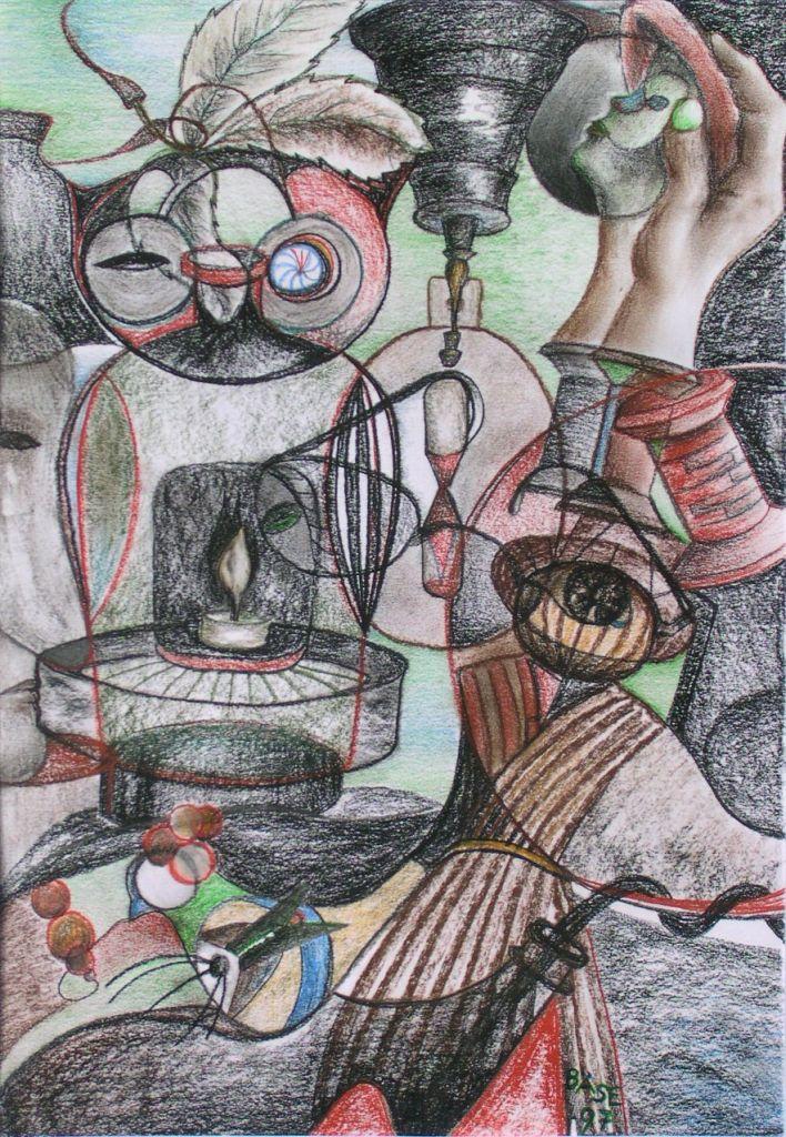 Die Illusion, Kreidezeichnung, 1997, 35x50