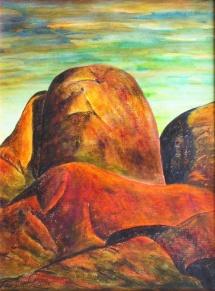 Versteinert, Acryl, 2003, 30x40