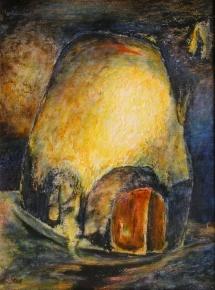 Mondlicht, Acryl, 2003, 30x40