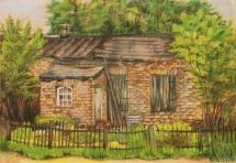 Einsamkeit, Pastellkreide, 2002, 50x35