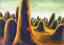 Eruption, Acryl, 2004, 18x13