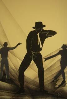 Michael Jackson - VIII, Schablonendruck, 2010, 48x70