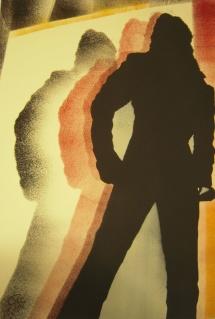 Michael Jackson - VIX, Schablonendruck, 2010, 50x72