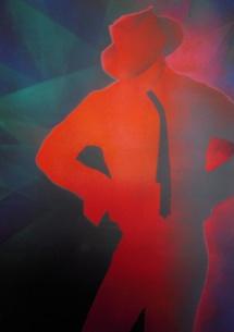Michael Jackson - XII, Schablonendruck, 2011, 50x70