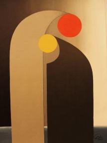 Das Leben - XIII, Acryl, 2009, 30x40