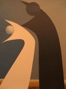 Das Leben - X, Acryl, 2009, 30x40