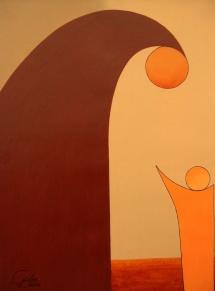 Das Leben - IX, Acryl, 2009, 30x40