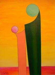 Das Leben - VIII, Acryl, 2009, 30x40