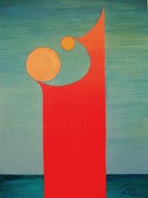 Das Leben - VII, Acryl, 2009, 30x40