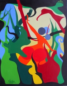 Lianen, Acryl, 2008, 25x32