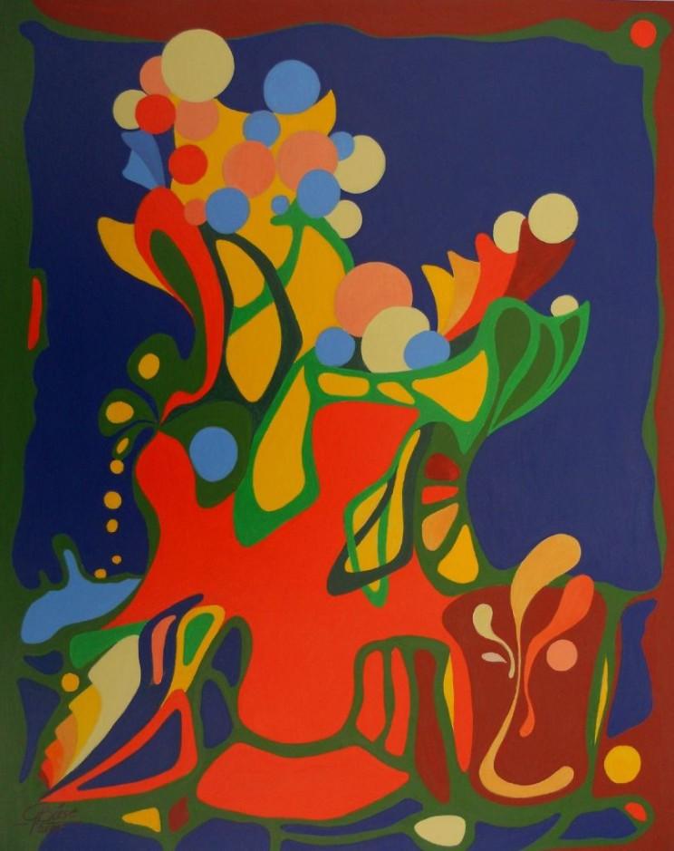Geburtstag, Acryl, 2004, 25x32