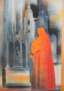 Wittenberger Reflexionen - XIII, Schablonendruck, 2010, 49x69