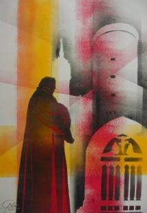Wittenberger Reflexionen - X, Schablonendruck, 2010, 49x71