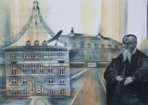 Wittenberger Reflexionen - V, Schablonendruck und Kreidezeichnung, 2010, 100x70