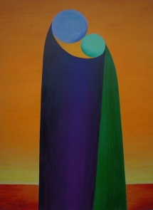Das Leben - VI, Acryl, 2009, 30x40