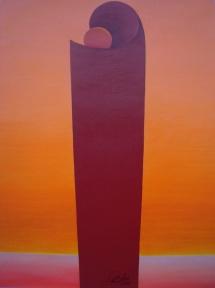 Das Leben - V, Acryl, 2009, 30x40