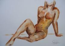 Weiblicher Akt - IV, Acryl, 2006, 50x70