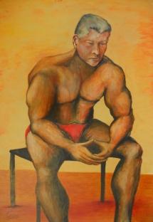 Frank, Acryl, 2007, 43x63