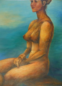 Weiblicher Akt - II, Acryl, 2007, 44x59