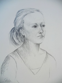 Juliane - II, Graphit, 2010, 45x60