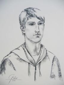 Konstantin, Kohlezeichnung, 2010, 45x60