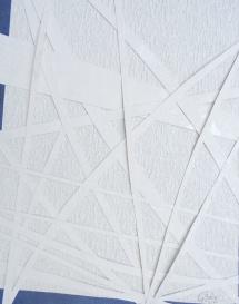 Weiß trifft Weiß, Papiercollage, 2011, 26,5x34