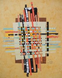 Kreuzung, Papiercollage, 2010, 38,5x49