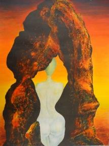 Unschuld, Acryl, 2003, 30x40
