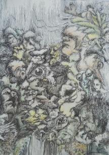 Nachts im Wald, Fineliner, 2001, 27x38