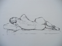 Weiblicher Akt - I, Kohlezeichnung, 2001, 48x37