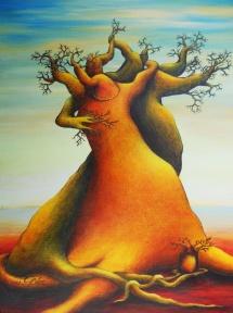 Die Seelen der Bäume - XIII, Acryl, 2008, 30x40
