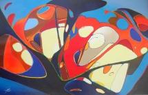 Käseplatte, Acryl, 2009, 80x51
