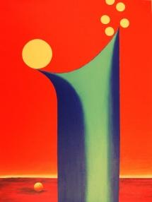Das Leben - IV, Acryl, 2009, 30x40