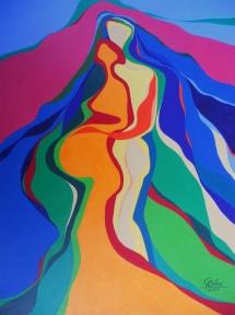 Dreisamkeit - II, Acryl, 2007, 30x40