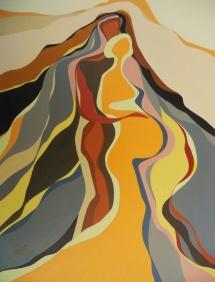 Dreisamkeit - I, Acryl, 2007, 30x40